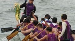 Hong Kong Dragon Boat Carnival Stock Footage