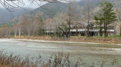 The View from Kappabashi Bridge. Kamikochi, Nagano Prefecture, Japan Stock Footage