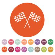 The checkered flag icon. Finish symbol. Flat Piirros