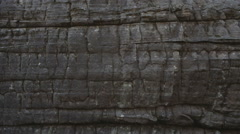 Ancient rock wall Stock Footage