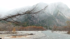This image was taken in Kamikochi, Nagano Prefecture, Japan Stock Footage
