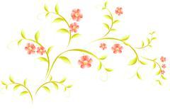 Stock Illustration of Pattern in the form of sakura branch. EPS10 vector illustration