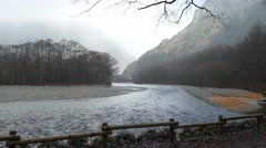 This image was taken in Kamikochi, Nagano Prefecture, Japan Stock Footage