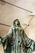 Virgin Mary Sculpture - Capitello della donazione - stock photo