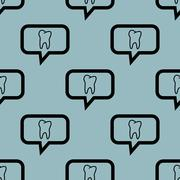 Pale blue tooth message pattern Stock Illustration