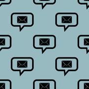 Pale blue letter message pattern - stock illustration