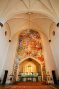 Interior Of Sofia Kyrka - Sofia Church - In Stockholm, Sweden Stock Photos