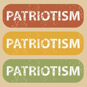 Vintage PATRIOTISM stamp set Stock Illustration