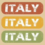 Stock Illustration of Vintage Italy stamp set