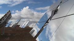 Solar Panel Mirror Heliostat (Timelapse) Stock Footage