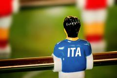Italy National Jersey on Vintage Foosball, Table Soccer Game - stock photo
