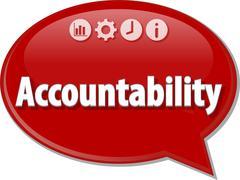 Accountability Business term speech bubble illustration - stock illustration