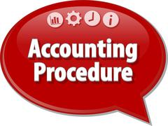 Stock Illustration of Accounting procedures Business term speech bubble illustration