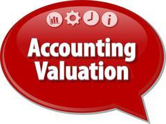 Accounting valuation Business term speech bubble illustration Stock Illustration