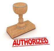 Stock Illustration of Rubber stamp - authorized