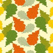 Oak leaves - stock illustration