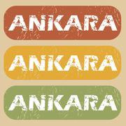 Vintage Ankara stamp set Stock Illustration