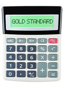 Calculator with GOLD STANDARD Stock Photos