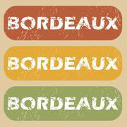 Vintage Bordeaux stamp set - stock illustration