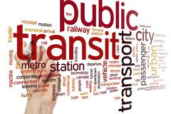 Public transit word cloud - stock photo