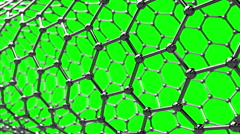 Rotating Carbon nanotube on green screen Stock Footage