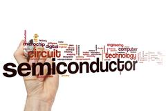 Semiconductor word cloud Stock Photos
