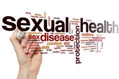 Sexual health word cloud Stock Photos