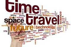 Time travel word cloud - stock photo