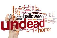 Undead word cloud Stock Photos