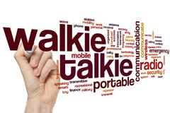 Walkie talkie word cloud Stock Photos