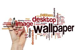 Stock Photo of Wallpaper word cloud concept