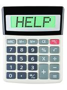 Calculator with HELP Stock Photos
