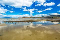 Low tide at Dunalley Tasmania Stock Photos
