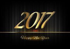 Stock Illustration of Gold New Year 2017 Luxury Symbol