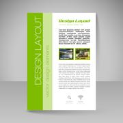 Site layout for design - flyer - stock illustration
