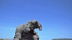 Roccia dell'Elefante under Blue Sky Castelsardo Sardinia - 25FPS PAL Stock Footage