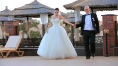 Newlywed Couple Stock Footage