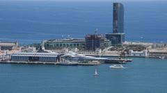 Clear Blue Sea Modern City - stock footage