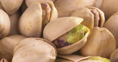 Pistachio Scattered Pistachio Nuts - stock footage