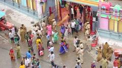 People in Vitala temple Hampi Karnataka India Stock Footage