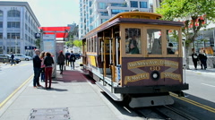Cable car in San Francisco, California, USA. Stock Footage