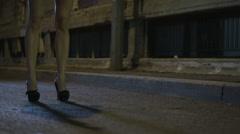 Female legs hi heals Stock Footage