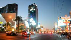 Cosmopolital hotel on Las Vegas Strip, USA. Stock Footage