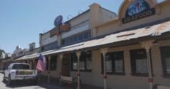 Steadicam  restaurant old town Templeton California . Stock Footage