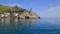Panorama of Balaklava bay. Sunny summer day. Stock Footage