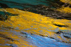 Detail, close up of water reflection colors. Stock Photos
