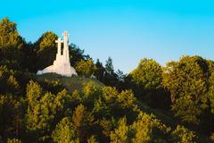 Exterior of the Three Crosses Landmark in Vilnius, Lithuania - stock photo