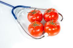 Agricultural diagnose, tomato - stock photo