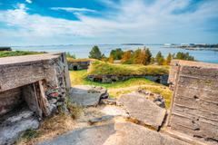 Historic Suomenlinna, Sveaborg maritime fortress In Helsinki, Fi - stock photo
