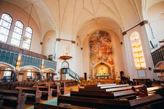 Interior Of Sofia Kyrka Sofia Church In Stockholm, Sweden - stock photo